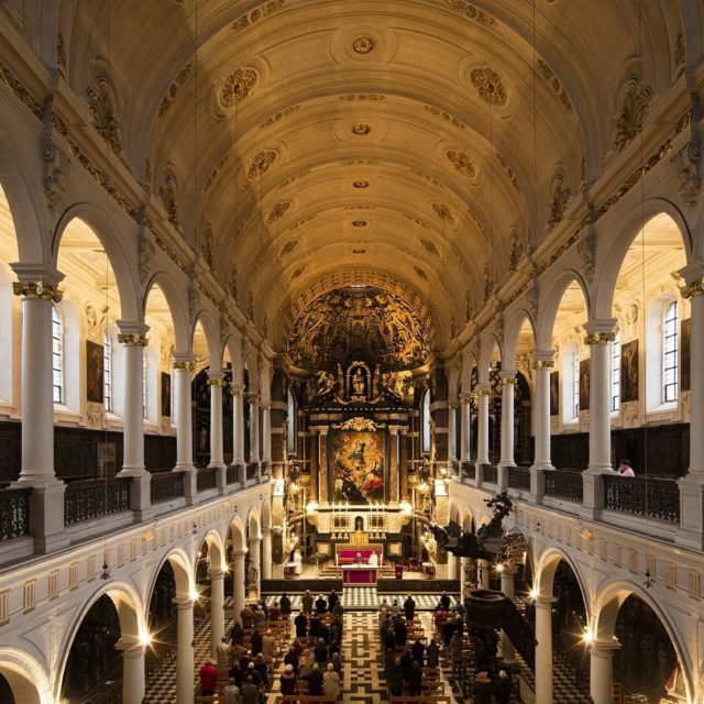 The stunning interior of Saint Carlous Borromeus Church in Antwerphellip