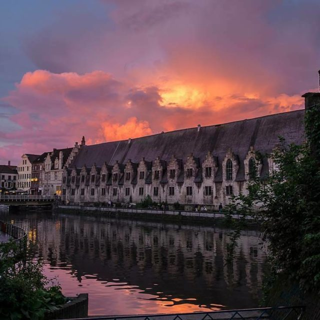 When the sun sets over Ghents canals you can seehellip