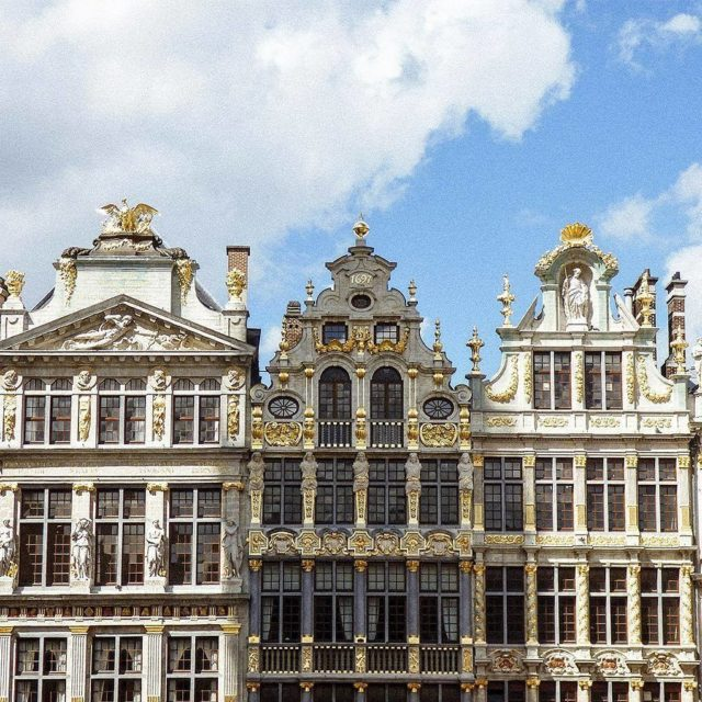 The great glistening guild houses in the Grand Place ofhellip